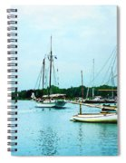 Boats On A Calm Sea Spiral Notebook