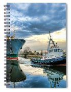 Boats On A Canal Spiral Notebook