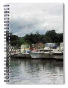Boats On A Cloudy Day Essex Ct Spiral Notebook