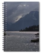 Boats On Jackson Lake - Grand Tetons Spiral Notebook