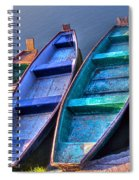 Boats On River Spiral Notebook