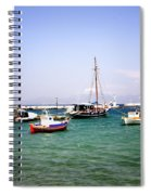 Boats On The Aegean Sea 1 - Mykonos - Greece Spiral Notebook