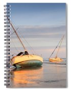 Accidentally - Boats On The Beach Spiral Notebook