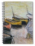 Boats On The Beach Spiral Notebook