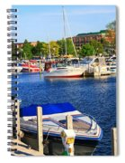 Boats On The Dock Traverse City Spiral Notebook