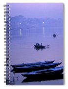 Boats On The Ganges River Spiral Notebook