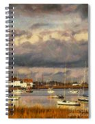 Boats On The River Spiral Notebook