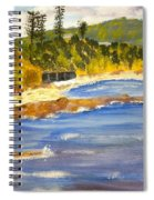 Boatsheds At Sandon Point Spiral Notebook