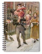 Bob Cratchit And Tiny Tim Spiral Notebook