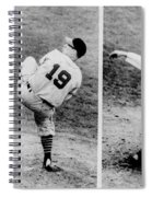 Bob Feller Pitching Spiral Notebook