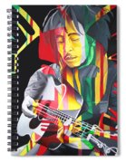 Bob Marley And Rasta Lion Spiral Notebook