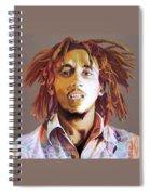 Bob Marley Earth Tones Spiral Notebook