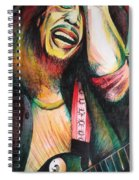Bob Marley In Agony Spiral Notebook