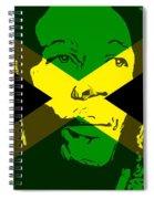 Bob Marley On Jamaican Flag Spiral Notebook