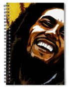 Bob Marley Rastafarian Spiral Notebook
