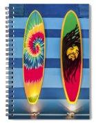 Bob Marley Surfing Display Spiral Notebook