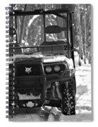 Bobcat Atv In Winter Spiral Notebook