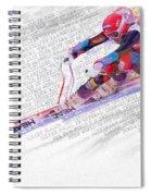 Bode Miller And Statistics Spiral Notebook