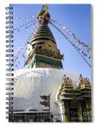 Bodhnath Stupa Spiral Notebook