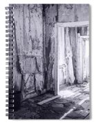 Bodie California In Black And White Spiral Notebook