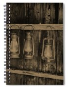 Bodie California Lamp Light  Spiral Notebook