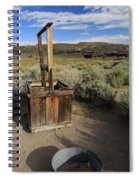 Bodie Ghost Town At The Well Spiral Notebook