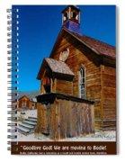 Bodie Ghost Town Church Spiral Notebook