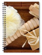 Body Care Accessories In Wood Tray Spiral Notebook