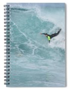 Body Surfer  Spiral Notebook