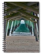 Bogue Banks Fishing Pier Spiral Notebook