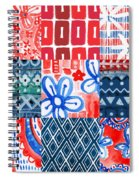 Boho Americana- Patchwork Painting Spiral Notebook
