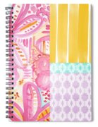 Boho Aztec Patchwork- Flower Painting Spiral Notebook