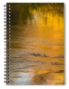 Boise River Autumn Abstract Spiral Notebook