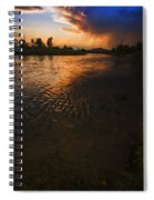Boise River Dramatic Sunset Spiral Notebook