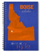 Boise State University Broncos Boise Idaho College Town State Map Poster Series No 019 Spiral Notebook