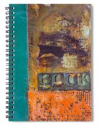 Book Cover Encaustic Spiral Notebook