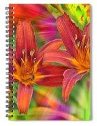 Bold And Beautiful Daylilies Spiral Notebook