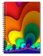 Bold Colors Fractal Spiral Notebook