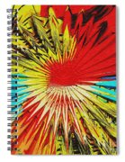 Bold Floral Hat Abstract Spiral Notebook