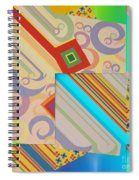 Bold Geometric Abstract  Spiral Notebook