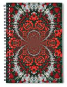 Tulips Kaleidoscope - Red And Green Spiral Notebook