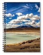Bolivia Lagoon Clouds Framed Spiral Notebook