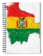 Bolivia Painted Flag Map Spiral Notebook