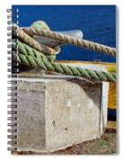 Bollard Closeup - Ropes - Mooring Lines - Wharf Spiral Notebook