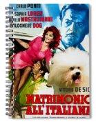 Bolognese Dog Art - Matrimonio All Italiana Movie Poster Spiral Notebook