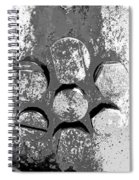 Bolted Silver Spiral Notebook