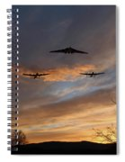 Bombers Pass By  Spiral Notebook