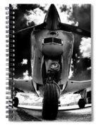 Bonanza In Black And White Spiral Notebook