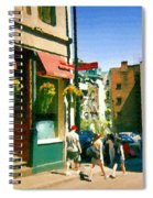 Bonaparte 4 Star Classic French Resto Vieux Montreal Paris Style Bistro Paintings Carole Spandau Art Spiral Notebook