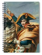 Bonaparte Crossing The Alps Oil On Canvas Detail Of 18491 Spiral Notebook